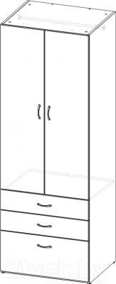 Шкаф 3Dom СП735 (венге)