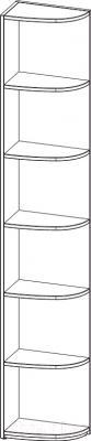 Стеллаж 3Dom СП991л (венге) - схема