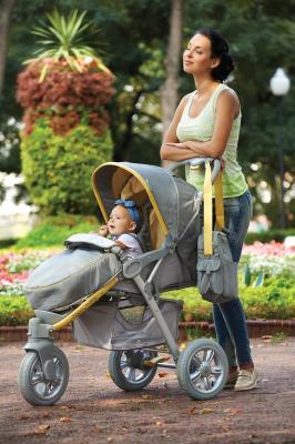 Детская прогулочная коляска Happy Baby Neon Sport (желтый)