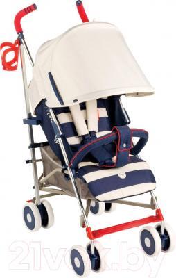 Детская прогулочная коляска Happy Baby Cindy (синий)