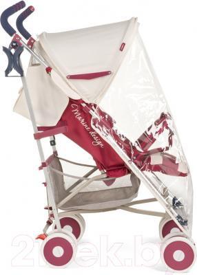 Детская прогулочная коляска Happy Baby Cindy (темно-бордовый)