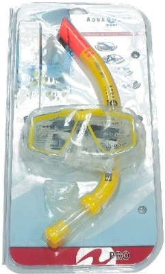 Набор для плавания Aqua Lung Sport Cozumel Pro + Airent Pro 60719 (желтый)