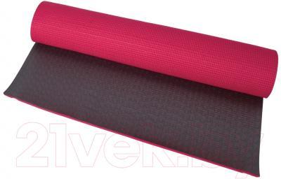 Коврик для йоги Motion Partner MP156 (красный/темно-коричневый)