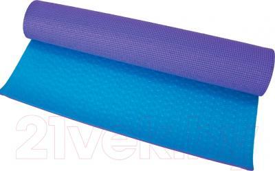 Коврик для йоги Motion Partner MP156 (голубой/фиолетовый)