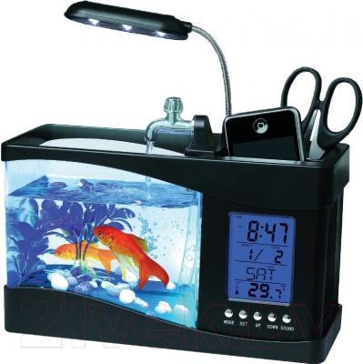 Аквариумный набор Aquael Desk Mini 222911 (черный)