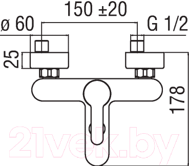 Смеситель Nobili Abc AB87110/1CR - схема