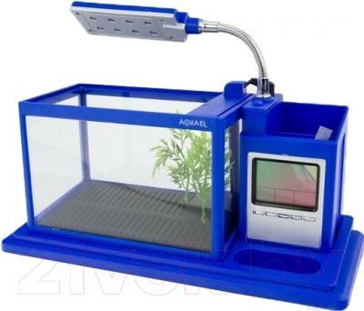 Аквариумный набор Aquael Desk Mini 222912 (синий)