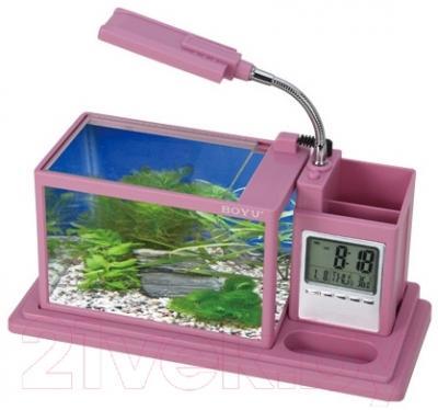 Аквариумный набор Aquael Desk Mini 222901 (розовый)
