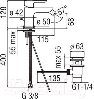 Смеситель Nobili Abc AB87119/1CR - схема