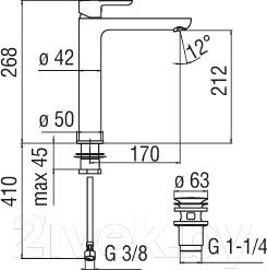Смеситель Nobili Abc AB87128/2CR - схема