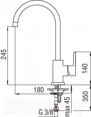 Смеситель Nobili Abc AB87133CR - схема