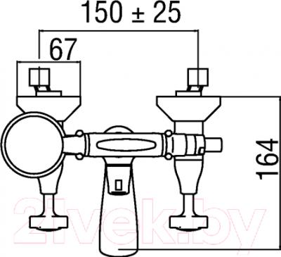 Смеситель Teknobili Carlos Primero CP210/T3CR - схема