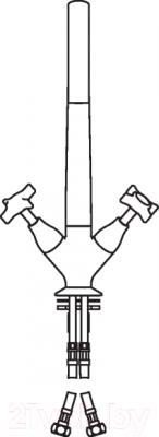 Смеситель Teknobili Carlos Primero CP217/T3CR - схема