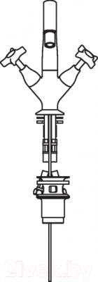 Смеситель Teknobili Carlos Primero CP219/1T3CR - схема