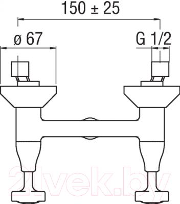 Смеситель Teknobili Carlos Primero CP230/T3BR