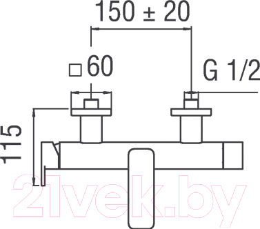 Смеситель Teknobili Loop LP90110/1CR