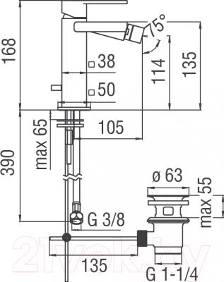 Смеситель Teknobili Loop LP90119/1CR