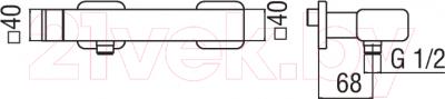 Смеситель Teknobili Loop LP90130CR