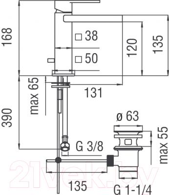 Смеситель Teknobili Loop LPC90118/1CR