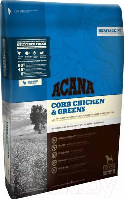 Корм для собак Acana Heritage Cobb Chicken & Greens (6кг)