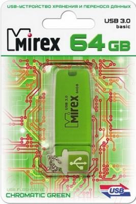 Usb flash накопитель Mirex Chromatic Green 64GB (13600-FM3CGN64)
