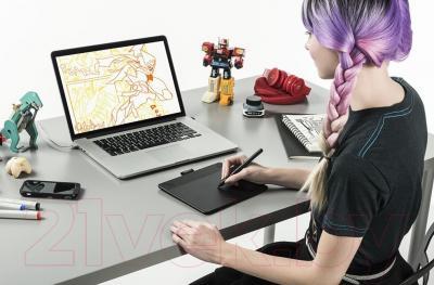 Графический планшет Wacom Intuos Comic Black / CTH-490CK-N (черный)