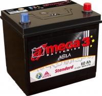 Автомобильный аккумулятор A-mega Standard Asia 60JR (60 А·ч) -