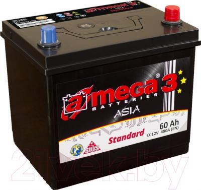 Автомобильный аккумулятор A-mega Standard Asia 60JR (60 А·ч)