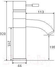 Смеситель Frap H52 F1052-2