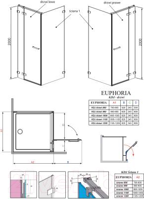Душевое ограждение Radaway Euphoria KDJ Door 120 383042-01R