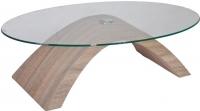Журнальный столик Седия Luna (светлый венге/прозрачный) -