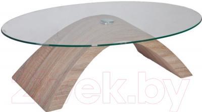 Журнальный столик Седия Luna (светлый венге/прозрачный)