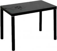 Обеденный стол Седия Agata (черный/черный с рисунком) -