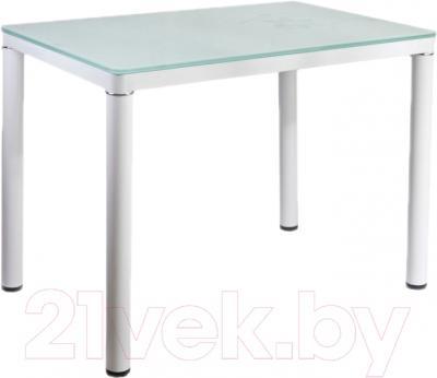 Обеденный стол Седия Agata (белый/белый с рисунком)