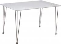 Обеденный стол Седия Gemma (белый глянец/хром) -
