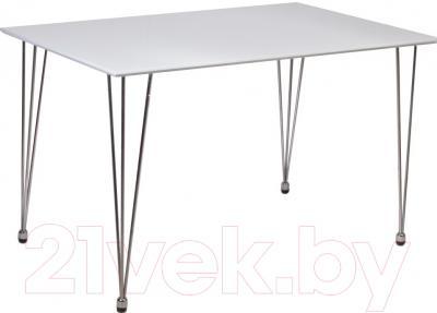 Обеденный стол Седия Gemma (белый глянец/хром)