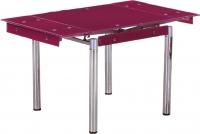 Обеденный стол Седия Karlota 16 (хром/фиолетовый без рисунка) -