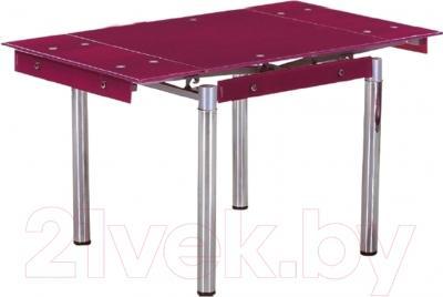 Обеденный стол Седия Karlota 16 (хром/фиолетовый без рисунка)
