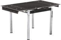 Обеденный стол Седия Karlota 16 (хром/черный без рисунка) -
