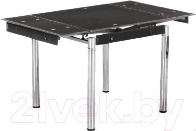 Обеденный стол Седия Karlota 16 (хром/черный без рисунка)