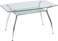 Обеденный стол Седия Patrizia (хром/стекло) -
