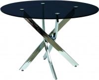 Обеденный стол Седия Sandra (хром/черный) -