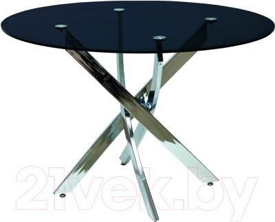 Обеденный стол Седия Sandra (хром/черный)