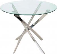 Обеденный стол Седия Sandra (хром/прозрачный) -