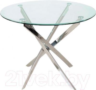 Обеденный стол Седия Sandra (хром/прозрачный)