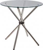 Обеденный стол Седия Selia 90x76 (хром/прозрачный) -