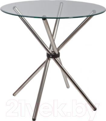 Обеденный стол Седия Selia 90x76 (хром/прозрачный)