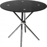 Обеденный стол Седия Selia 90x76 (хром/черный) -