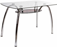 Обеденный стол Седия Vittoria (хром/стекло) -