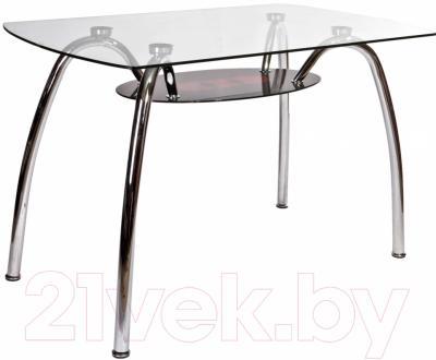 Обеденный стол Седия Vittoria (хром/стекло)